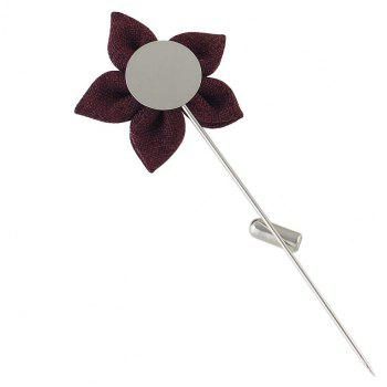 Colorful Fabric Flower Brooch Pins - PURPLE