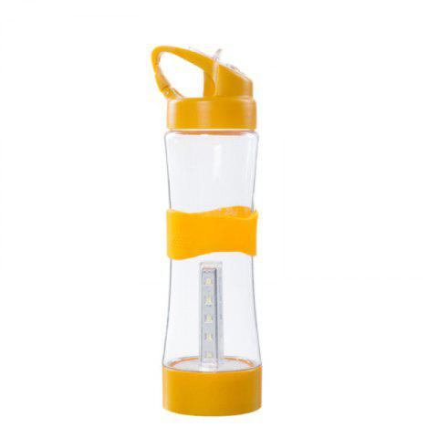 Creative Outdoor Multifunctional Lighting Silicone Gift Cup - BRIGHT YELLOW