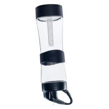 Creative Outdoor Multifunctional Lighting Silicone Gift Cup - BLACK