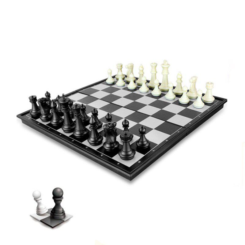 Contemporary Tournament Magnetic Chess Set with Folding Chess Board Educational Toys twenty new high grade wood chess combo green water based paint checkers flight chess jungle chess dragon chess six children