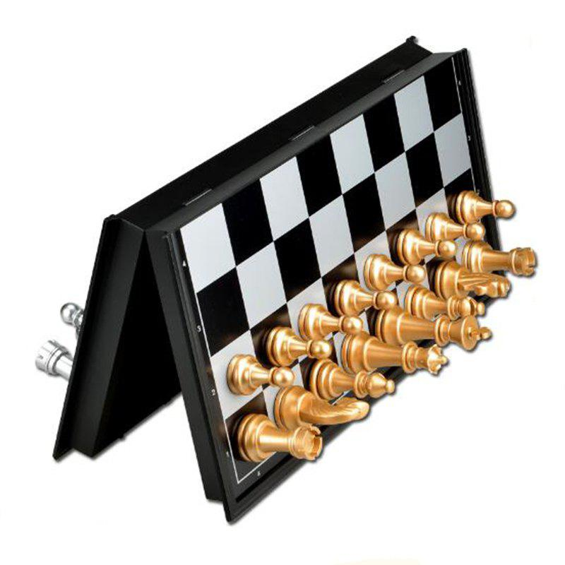Contemporary Tournament Magnetic Chess Set with Folding Chess Board Educational Toys mtele brand 62 pcs pcs magnetic tiles designer construction kids educational toys creative bricks enlighten toy