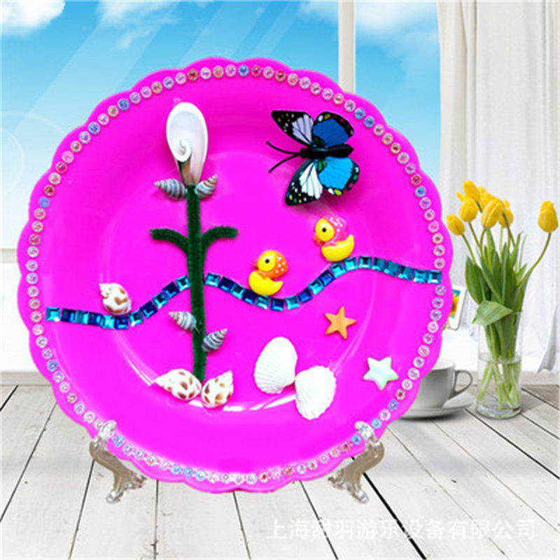 Creative Children Shell Picture DIY Kit Disk Stickers Educational Toys 500pcs 1000pcs small building block diy creative bricks educational toys for children compatible with major brand multicolor