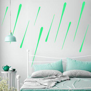 Meteor Shower Starfall Noctilucence Sticker Decotation for Kid's Room Ceiling - DRAGON GREEN
