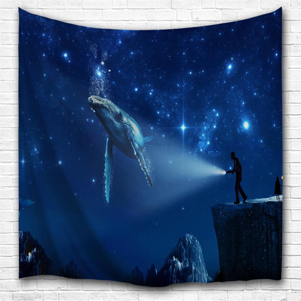 Space Shark 3D Printing Home Wall Hanging Tapestry for Decoration space shark 3d printing home wall hanging tapestry for decoration