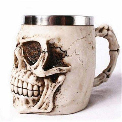 3D Stainless Steel Cup Coffee Mug - multicolor H