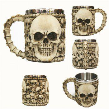 3D Stainless Steel Cup Coffee Mug - multicolor E