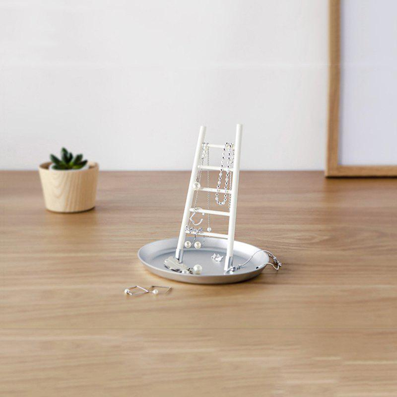 Creative Home Desktop Ornaments Small Ladder Modeling Jewelry Rack creative home cartoon cat shape plastic small desktop trash blue