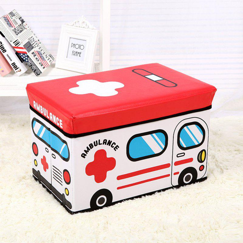 Cartoon Large Capacity Children'S Toy Storage Box Can Sit Stool simple modern fashion shoes stool solid wood sitting stool soft linen fabric small sofa 3 legs stool creative lving room stool
