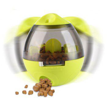 Removable Pet Dogs Dispenser Tumbler Leakage Ball Bite Toy - FERN GREEN