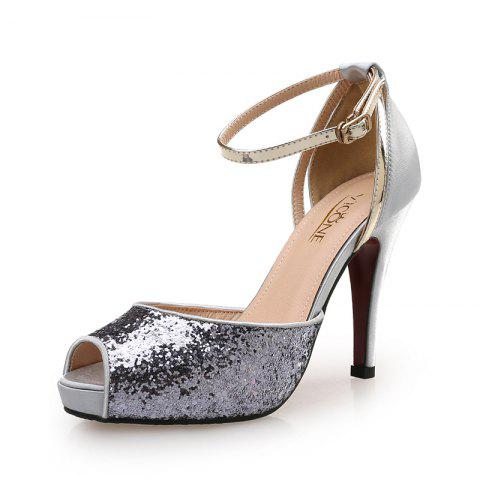 8e680f3508bb0f 2019 VICONE Women Summer Peep Toe Party Bling Fashion High Heels In ...