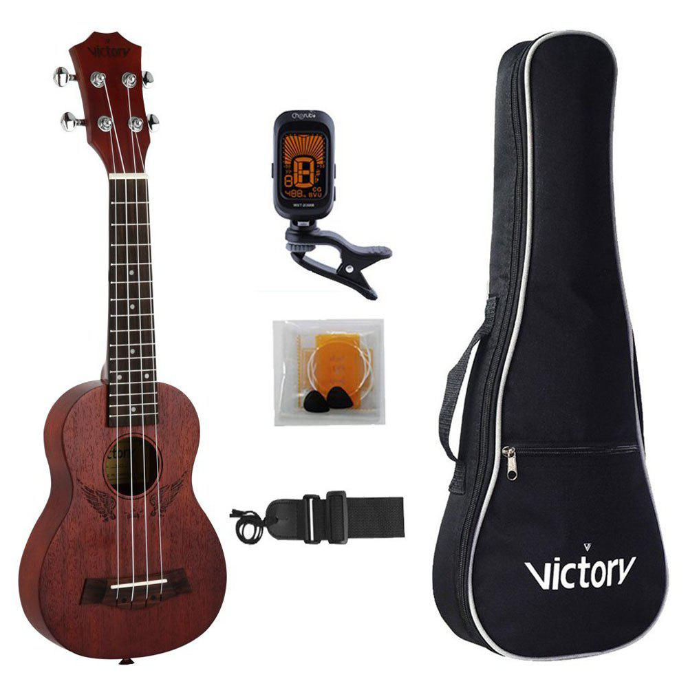 Soprano Ukulele 21 inch Mahogany Aquila Strings Beginner Kit ( Angel ) 26inch ukulele hawaiian 4 strings mini guitar mahogany for beginner player