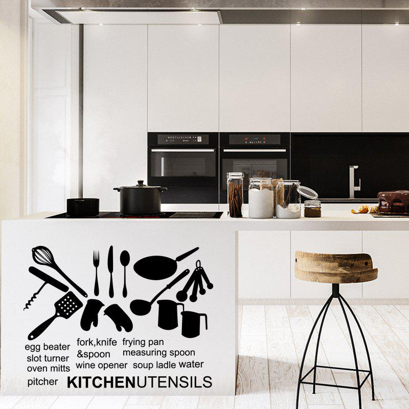 Cartoon Kitchen Utensils Wall Sticker Home Decoration Accessories Modern Decal family wall quote removable wall stickers home decal art mural