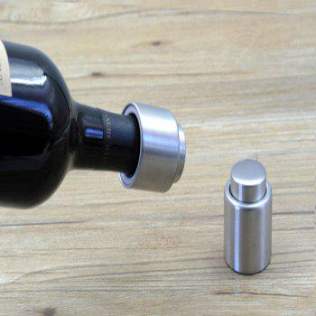 Gift Press Type Stainless Steel Wine Champagne Plug - SILVER