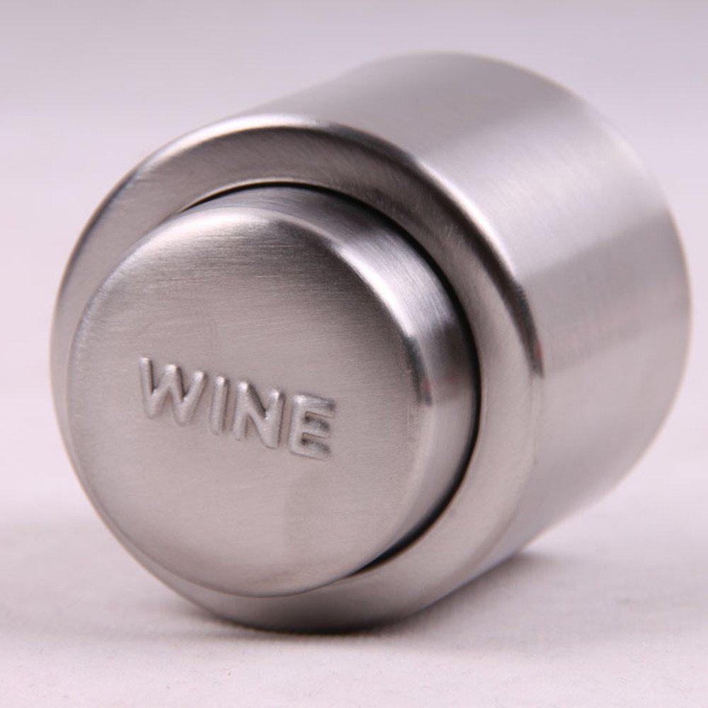 Gift Press Type Stainless Steel Wine Champagne Plug - PLATINUM