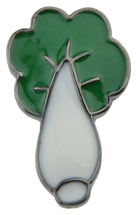 Trendy Enamel Cabbage Shape Small Brooches Accessories - WHITE