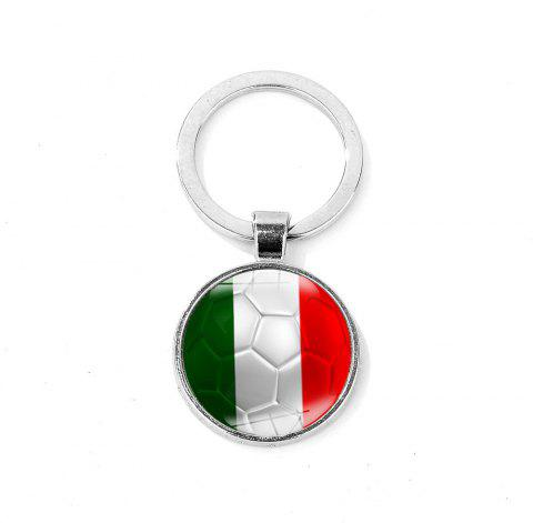 Flag Football Portable Key Chain - FOREST GREEN