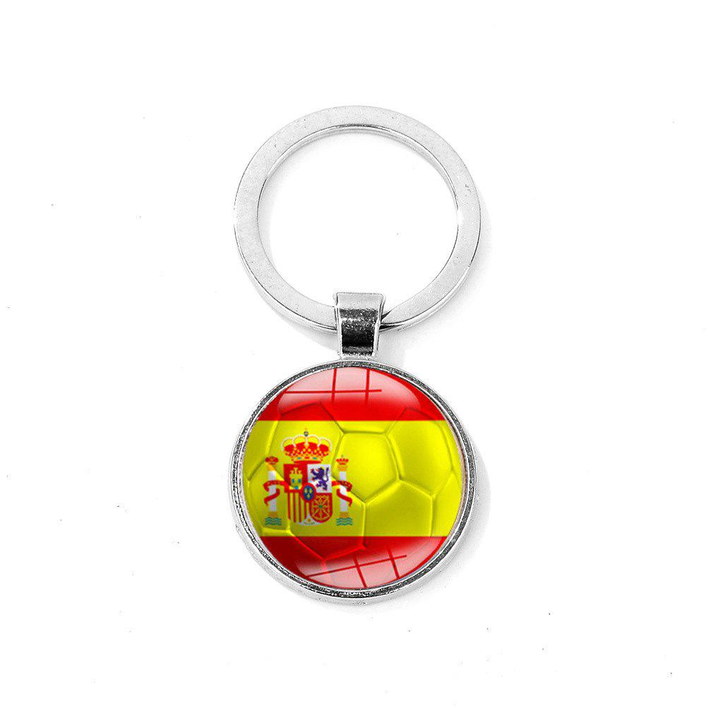 Flag Football Portable Key Chain - RUBY RED