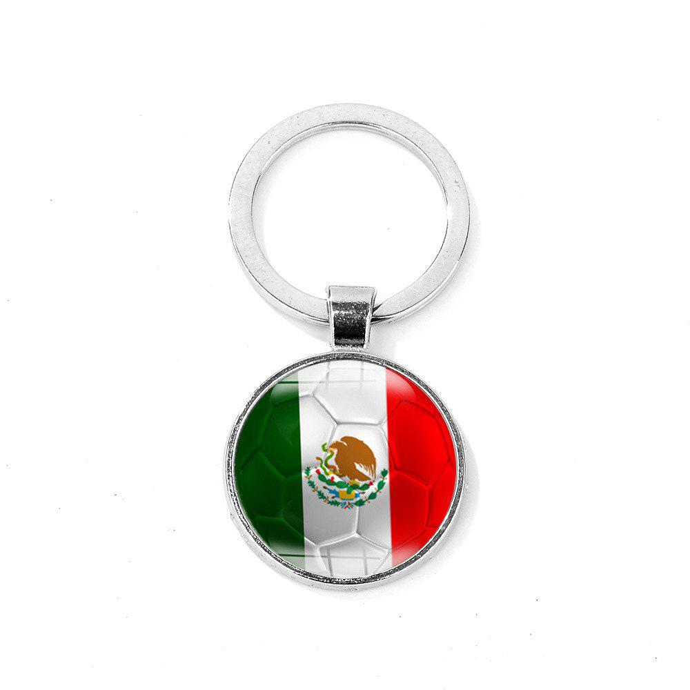Flag Football Portable Key Chain - BLUE GREEN