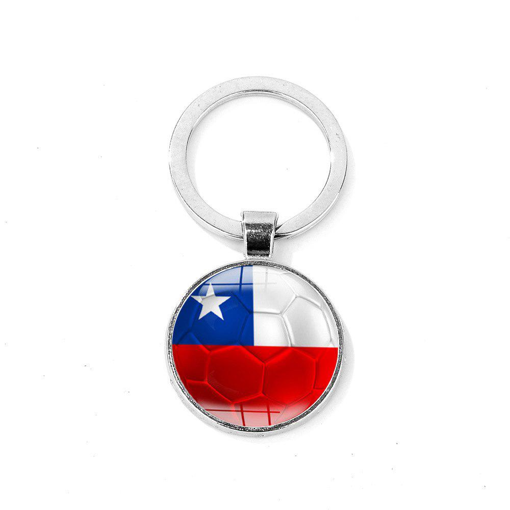 Flag Football Portable Key Chain - FIRE ENGINE RED