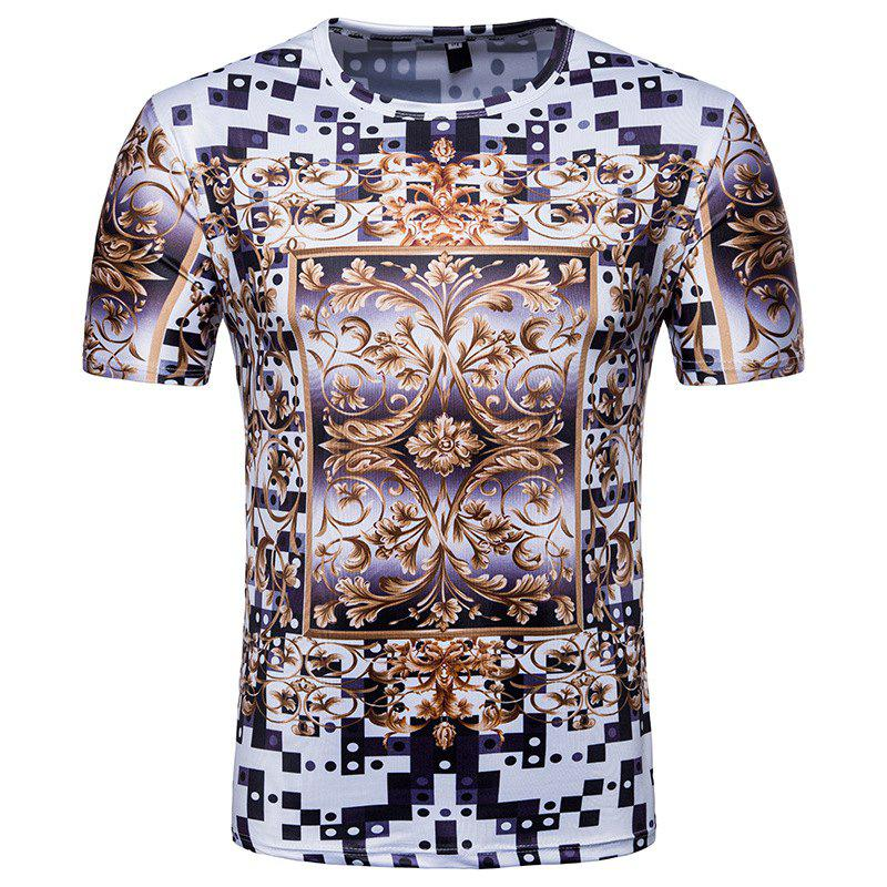 Summer Style New Personality Creative Printing Men'S Casual Short Sleeve T-Shirt mens casual 3d personality skull printing short sleeve t shirt cotton sport black tees