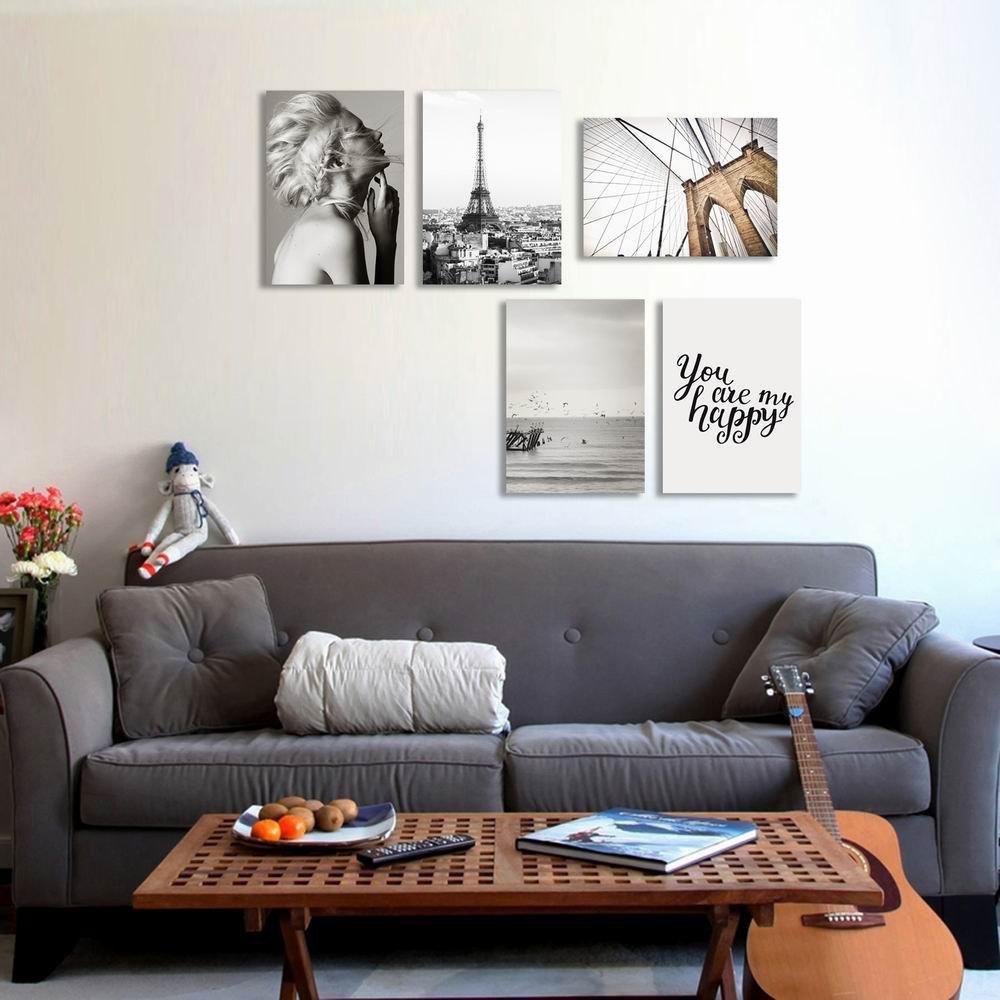 Фото W237 Unique Unframed Art Wall Canvas Prints for Home Decorations 5 PCS family wall quote removable wall stickers home decal art mural