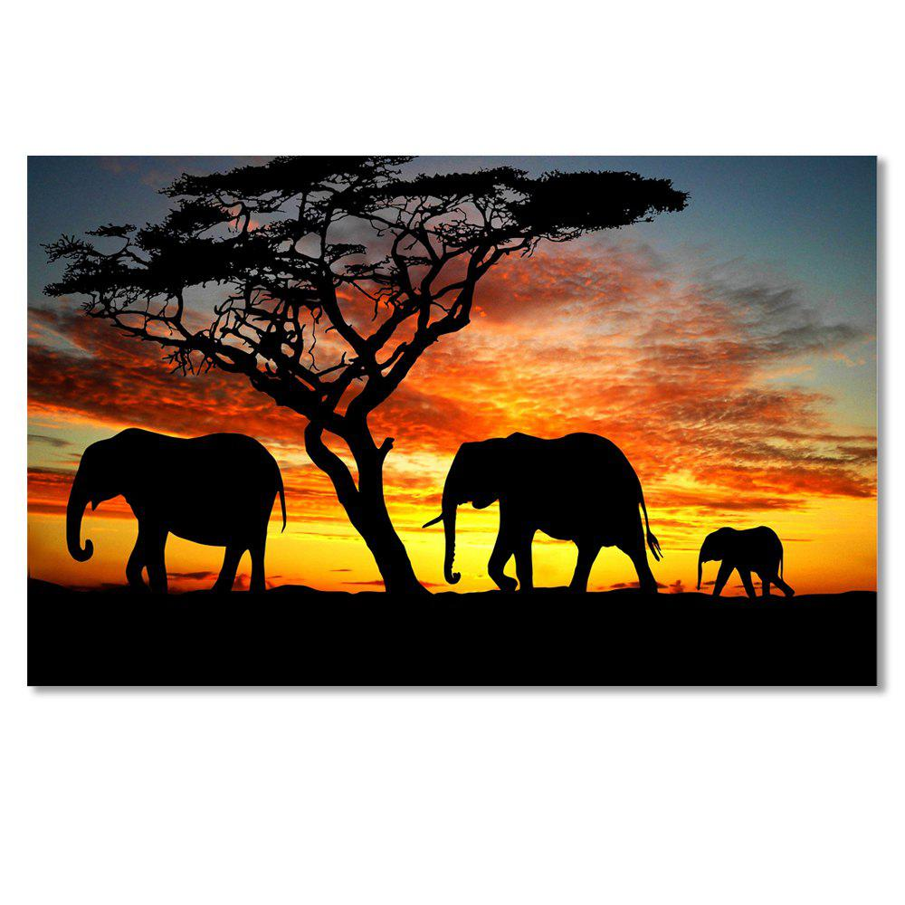 W239 Elephants Unframed Art Wall Canvas Prints for Home Decorations family wall quote removable wall stickers home decal art mural