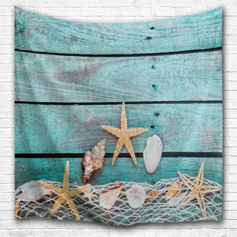 Conch Starfish 3D Printing Home Wall Hanging Tapestry for Decoration beach starfish 3d printing home wall hanging tapestry for decoration