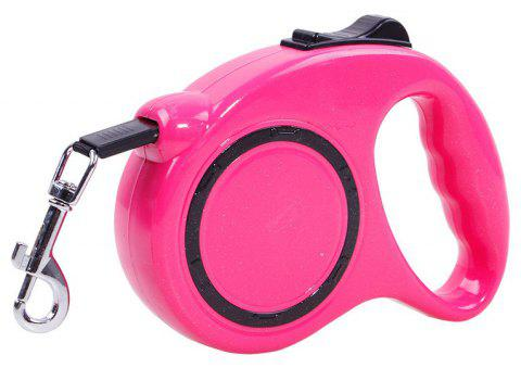3m Traction Belt with Automatic Telescopic Rope Portable Pet Dog Supplies - ROSE RED