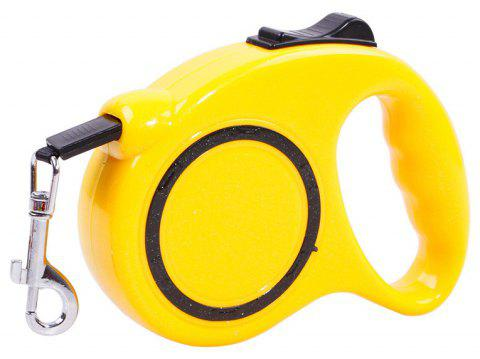 5 m Traction Belt with Automatic Telescopic Rope Portable Pet Dog Supplies - YELLOW