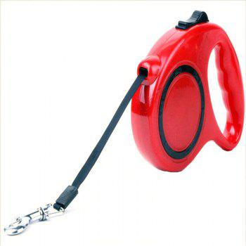 5 m Traction Belt with Automatic Telescopic Rope Portable Pet Dog Supplies - RED