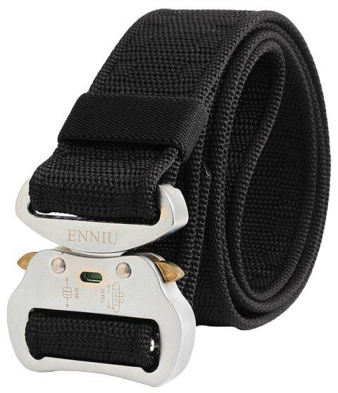 ENNIU Multi-Function Alloy Buckle Durable Tactical Military Belt - BLACK