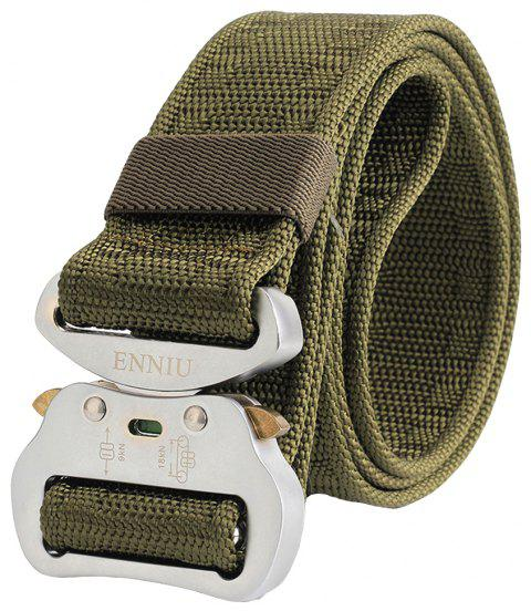 ENNIU Multi-Function Alloy Buckle Durable Tactical Military Belt - ARMY GREEN