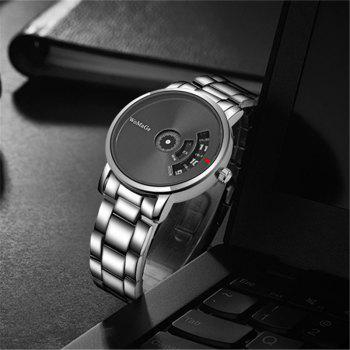 Simple Casual Fashion Men Wristwatches - BLACK