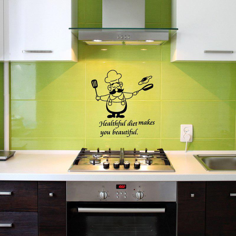 2018 Funny Kitchen Wall Stickers Waterproof Vinyl Decals Chef Home ...