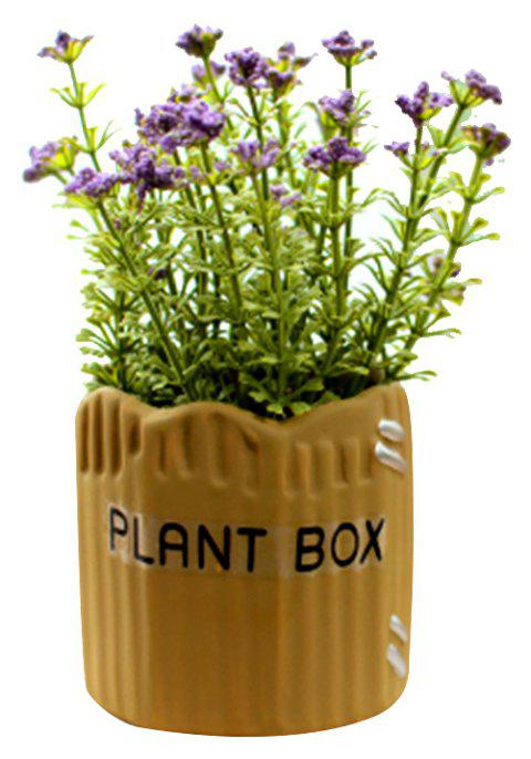 WX-032804-C American Village Fresh and Simple Artificial Starry Potted Plant - VIOLET