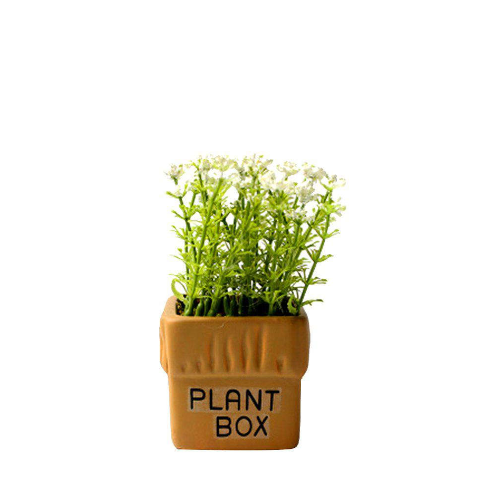WX-032804-C American Village Fresh and Simple Artificial Starry Potted Plant - WHITE