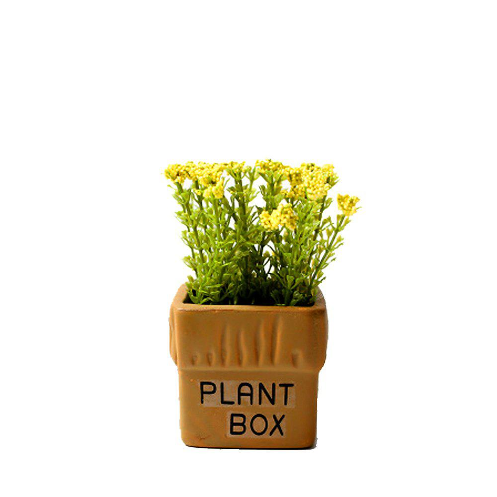 WX-032804-C American Village Fresh and Simple Artificial Starry Potted Plant - YELLOW
