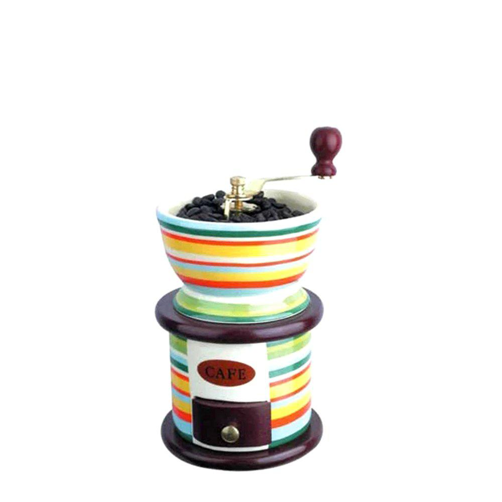 TB-BK-2517 Retro Hand-Held Ceramic Coffee Grinder - multicolor A