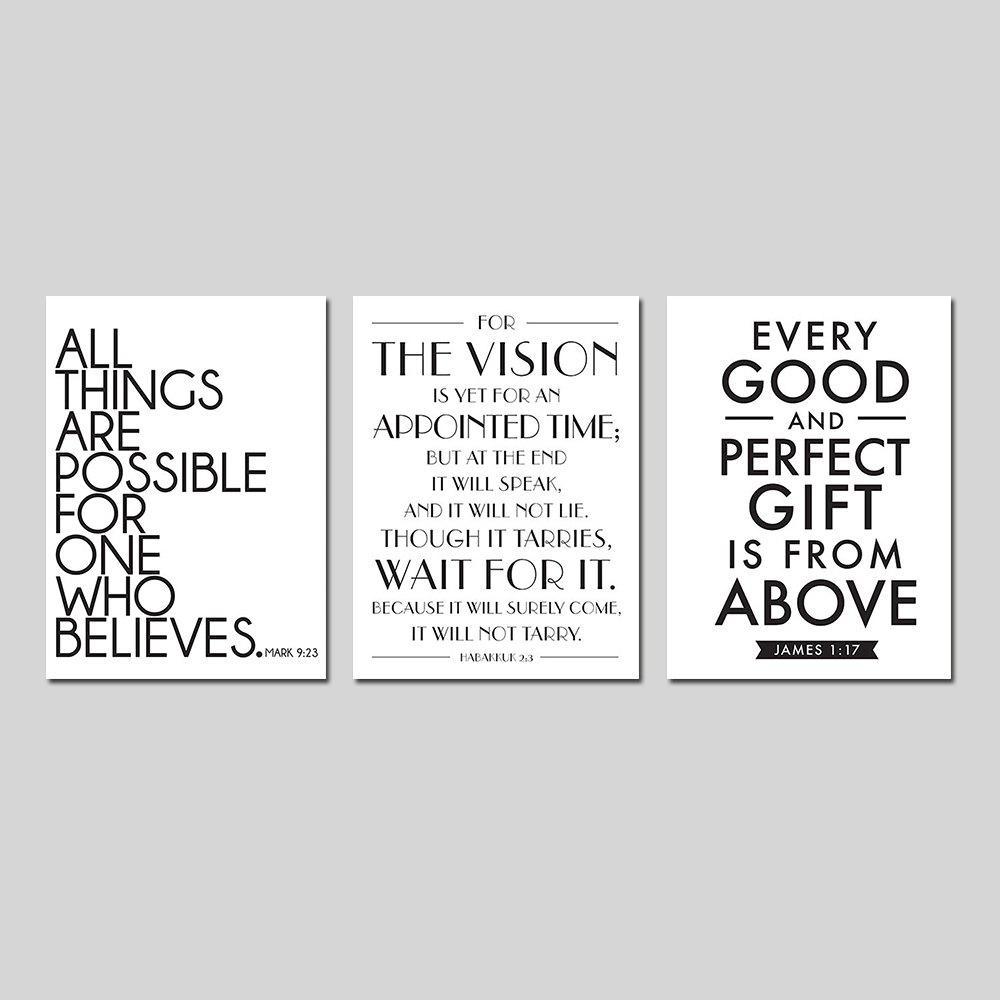 Living Room Modern Simple English Letter Adornment Print Europe Style 3PCS