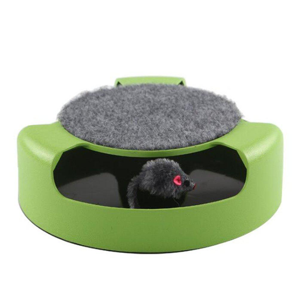 Revolving Puzzle Toy Mice Teasing The Cat'S Turntable - JUNGLE GREEN