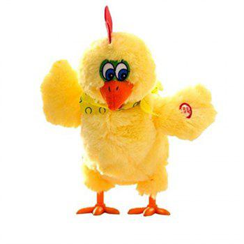 Toy Doll Laying Egg Electric Plush Crazy Chicken with Lights Sound Music - YELLOW