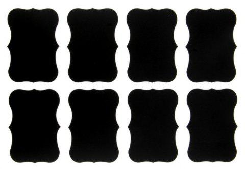 40 PCS DIY Kitchen Jam Jar Labels Stickers - BLACK