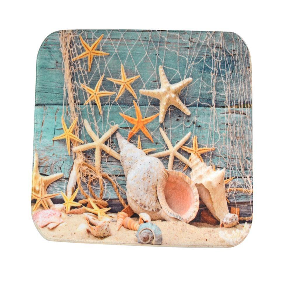Nets Starfish Super Soft Non-Slip Bath Door Mat Machine Washable cowboy lanterns super soft non slip bath door mat machine washable