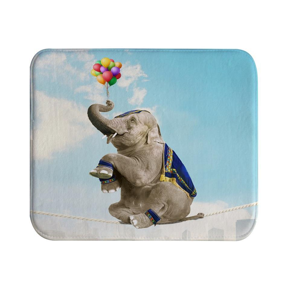 Balloon Elephants Super Soft Non-Slip Bath Door Mat Machine Washable cowboy lanterns super soft non slip bath door mat machine washable