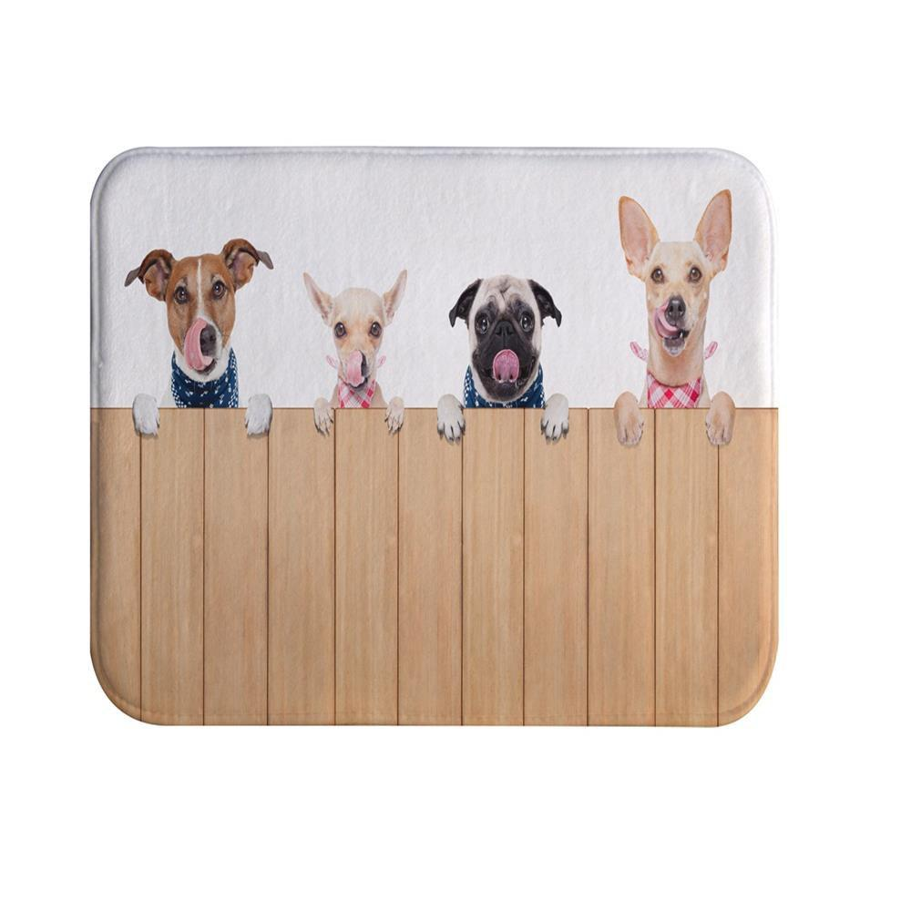 Pet Dog Super Soft Non-Slip Bath Door Mat Machine Washable Quickly Drying pink girl super soft non slip bath door mat machine washable quickly drying