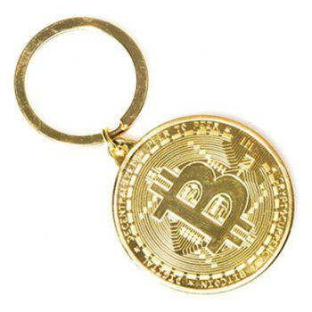 Bitcoin Key Chain Plated Cryptocurrency Gift - GOLD