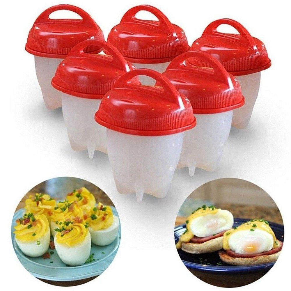 6Pcs Non-Stick Silicone Egg Cup Cooking Cooker new non stick cooking surface eggs waffle machine electric egg waffle maker hong kong style easy diy making
