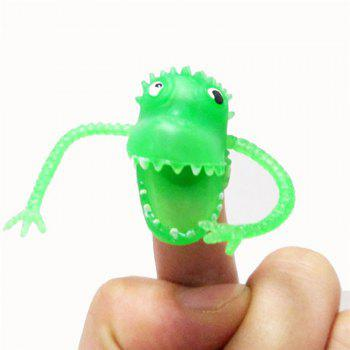 Multi-color Silicone Mini Dinosaur Finger Puppets Toys for Kids Baby Gift 5pcs - multicolor A