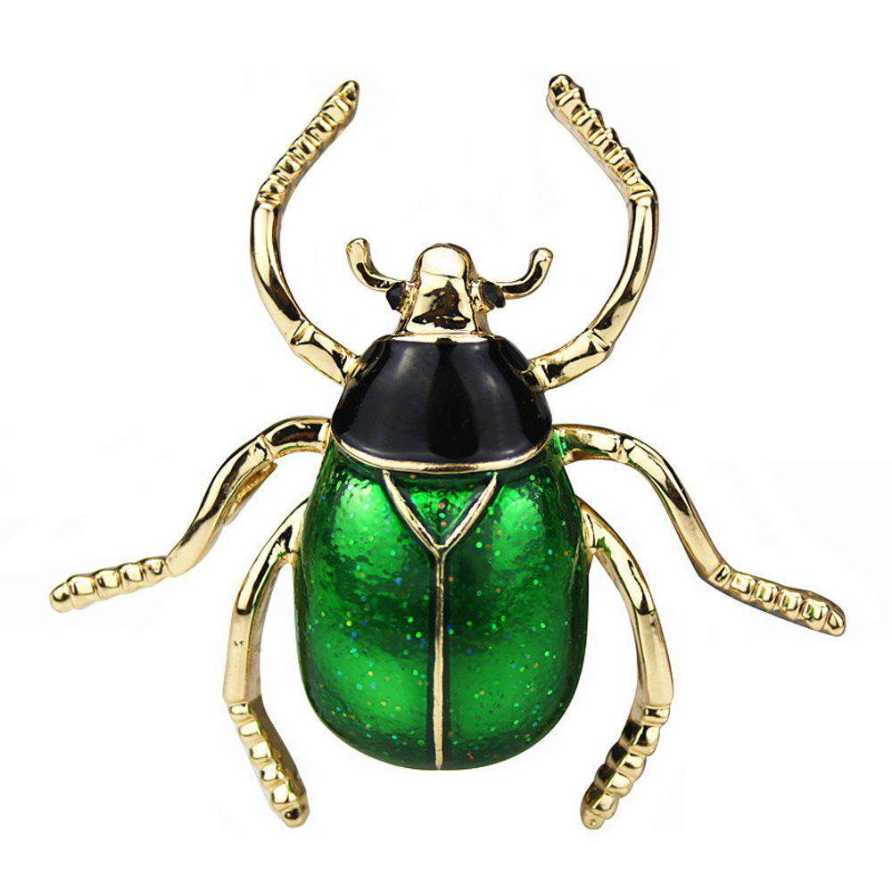 PULATU Personalized Enamel Insect Brooch - JUNGLE GREEN
