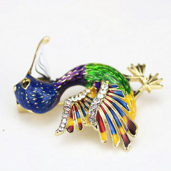 PULATU Personalized Enamel Simulate-Pearl Bird Brooch B1L5-7 - JUNGLE GREEN